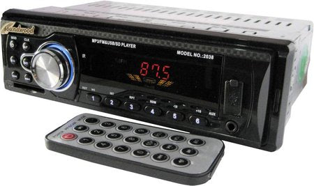 Soundwood USB mp3/Mobile Aux with Audio Stabilizer Car Stereo  (Single Din)