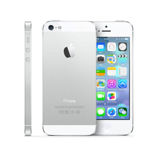 iphone 5 (64GB, Silver) 4G-LTE, Refurbished