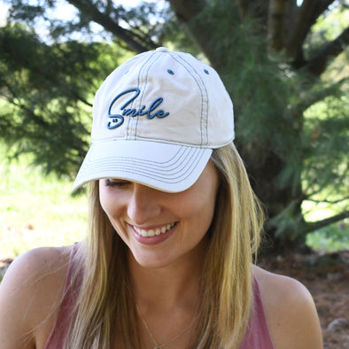 Womens SMILE Beach Cap