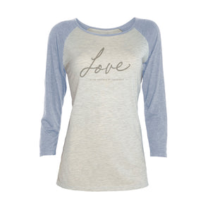 LOVE Women's Baseball Shirt - creativitees.store