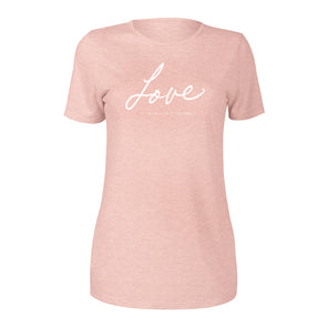 LOVE Womens Short Sleeve Tee