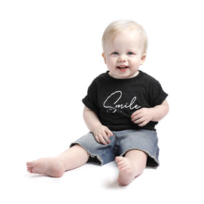 SMILE Toddler Short Sleeve Tee - creativitees.store