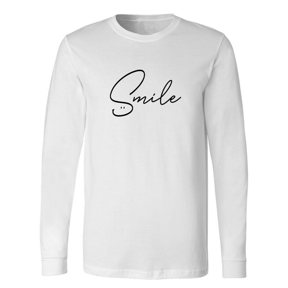 SMILE Unisex Long Sleeve Tee - creativitees.store