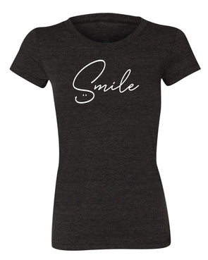 SMILE Womens Short Sleeve Tee