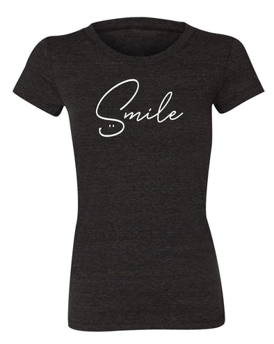 SMILE Womens Short Sleeve Tee - creativitees.store