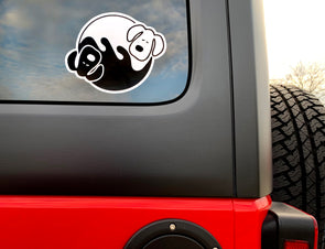 Um Yang Dogs Sticker - creativitees.store