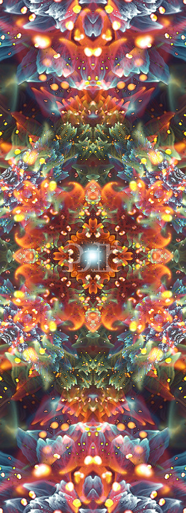 """Radiant Bliss"" Fractal Flower Mandala Art, Psychedelic Trippy Yoga Mat Design"
