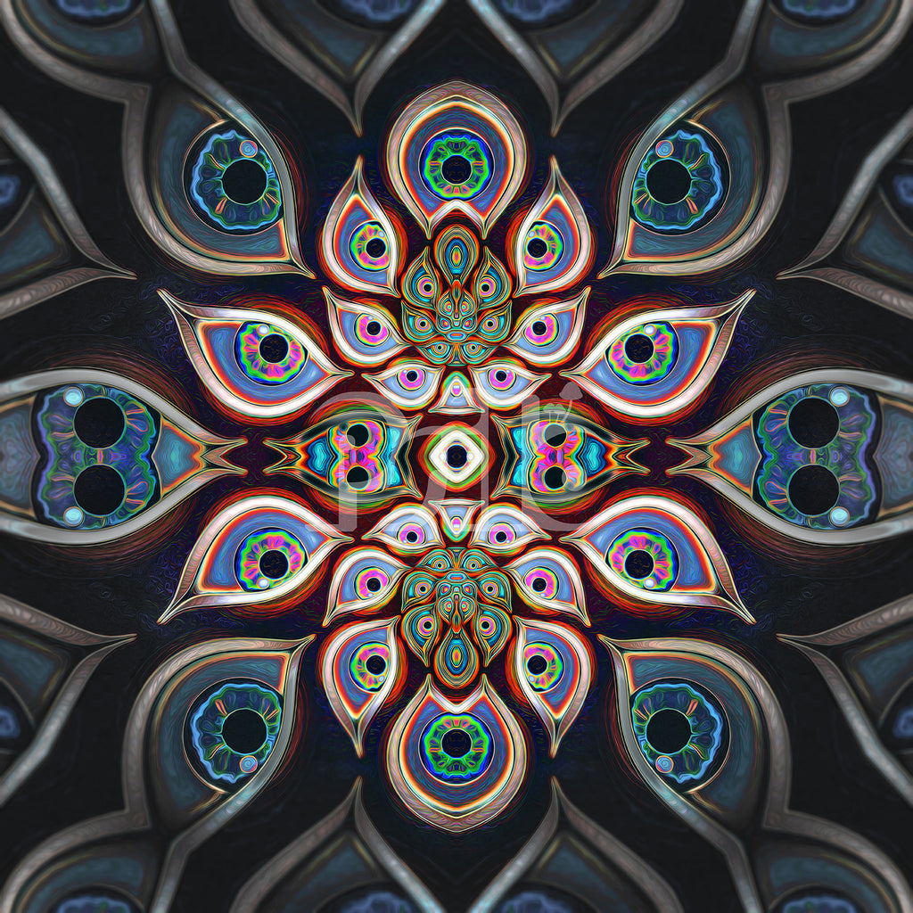 """""""The Waiting Room"""" Psychedelic DMT Eyes, Trippy Art, Visionary Tripping Art"""