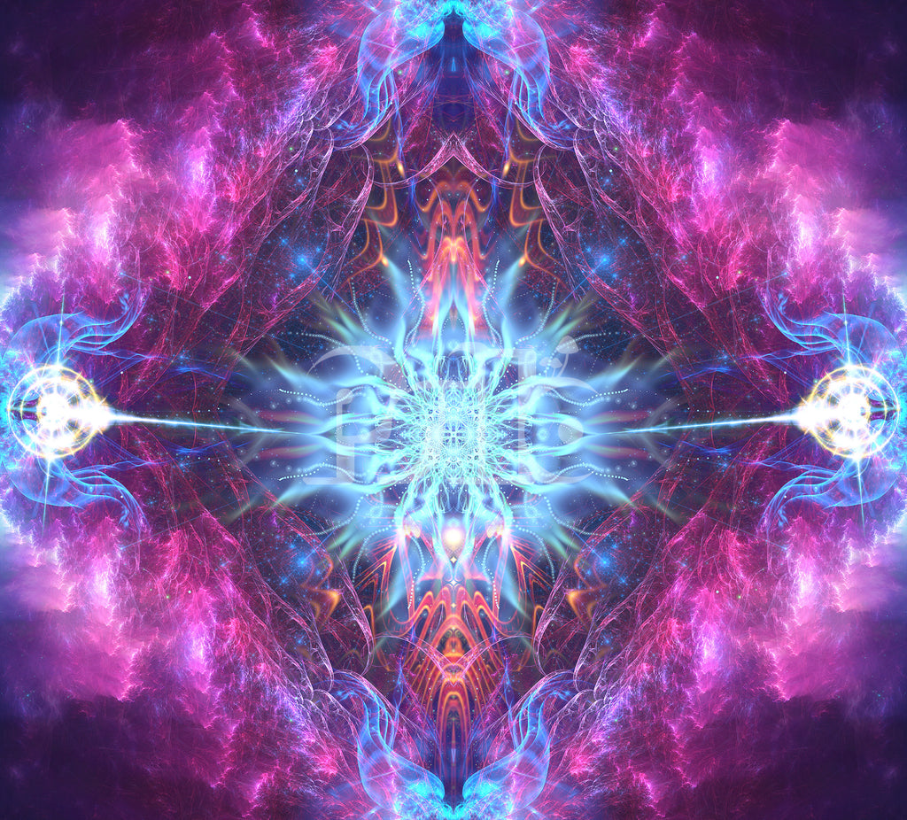 """""""Angelic Force"""" Cosmic Fractal Explosion Art, Angelic Energy, Trippy, Psychedelic, Psy Art"""