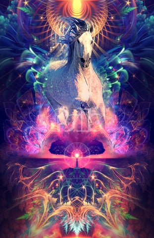 """""""Book Cover for Anna Twinney"""" Mustang Horse Visionary Art"""