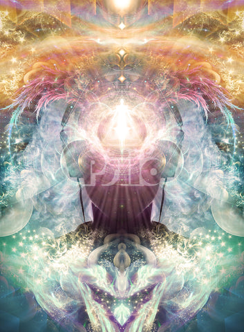 """""""Celestial Vibrations"""" Psychedelic Headphone visionary art, headphones, higher consciousness"""