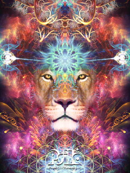 Lion Visionary Art - Psychedelic Art - Spiritual - Sekhmet