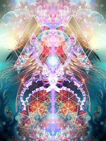 """""""Primordial Soup"""" Psychedelic Jelly Fish Art, Jellyfish Visionary Art, Spirit Animal"""