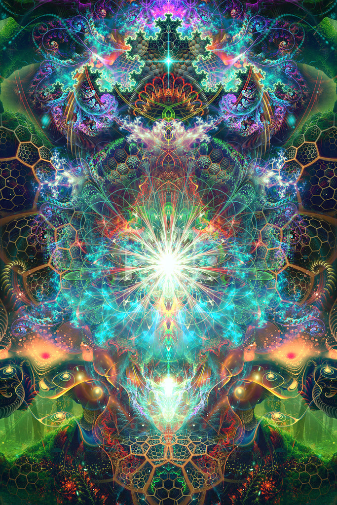 """""""To Tree or Not to Tree"""" Psychedelic Tree of Life Visionary Art, Trippy Festival Art"""