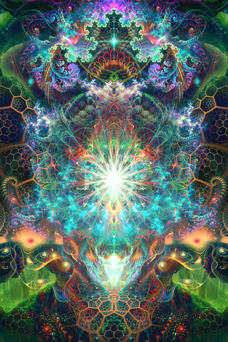 """""""To Tree or Not to Tree""""Psychedelic Tree of Life Art, Trippy DMT fractal Art"""