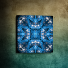 "Load image into Gallery viewer, ""Inner Sanctum"" - Fractal Mandala Canvas"
