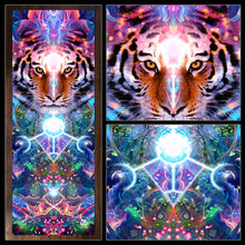 "Load image into Gallery viewer, ""Hunter's Moon"" - Jungle Tiger Moon Phase YOGA MAT"