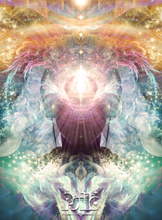 "Load image into Gallery viewer, ""Celestial Vibrations"" - Headphones Poster"