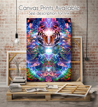 Load image into Gallery viewer, Hunter's Moon - Psychedelic Tiger & Moon Phases Poster