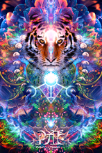 Load image into Gallery viewer, Hunter's Moon - Tiger & Moon Tapestry