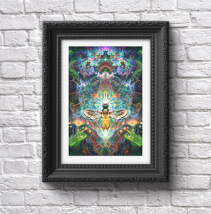 """To Bee or Not to Bee"" - Psychedelic Bee Poster"