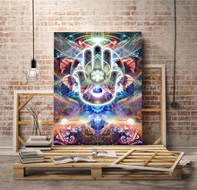 "Load image into Gallery viewer, ""Divine Protection"" - Hamsa Canvas"
