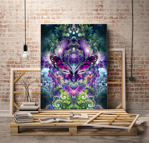 """Emergence"" - Butterfly Canvas"