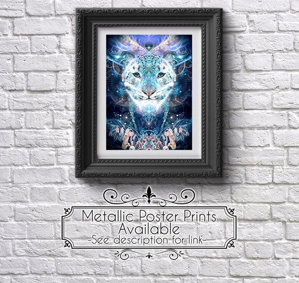 """Solitude"" - Snow Leopard Tapestry"
