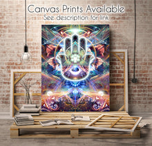 "Load image into Gallery viewer, ""Divine Protection"" - Hamsa Tapestry"