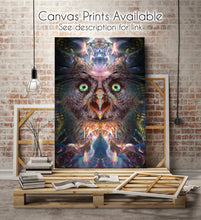 "Load image into Gallery viewer, ""Complete Awareness"" - Trippy Owl Tapestry"