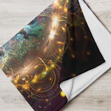 "Load image into Gallery viewer, ""Density 432"" - Visionary Art Throw Blanket / Tapestry"