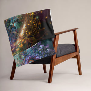 """Density 432"" - Visionary Art Throw Blanket / Tapestry"
