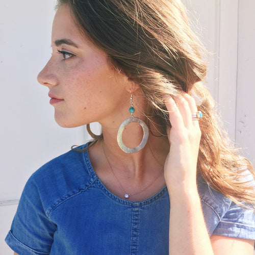 Aluminum Circle Earrings