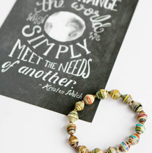 "Load image into Gallery viewer, ""We Change the World"" Card + Paper Bead Bracelet"