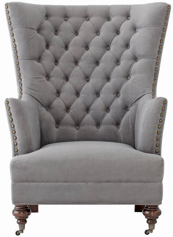 Gray Wing Chair