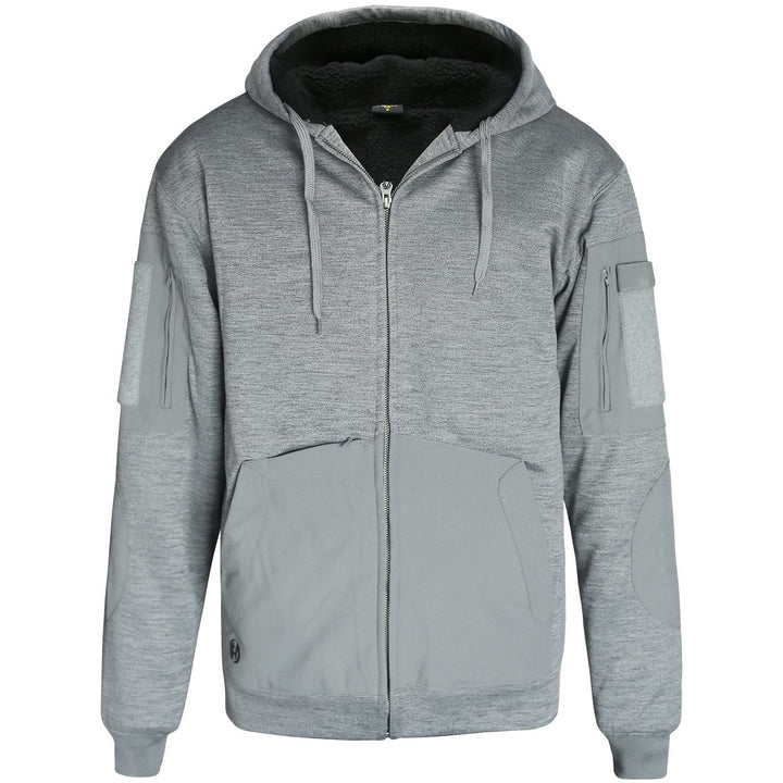 HARD LAND Men's Lined Full Zip up Hoodie Hooded Sweatshirt Winter Fleece Jacket - hardlandgear