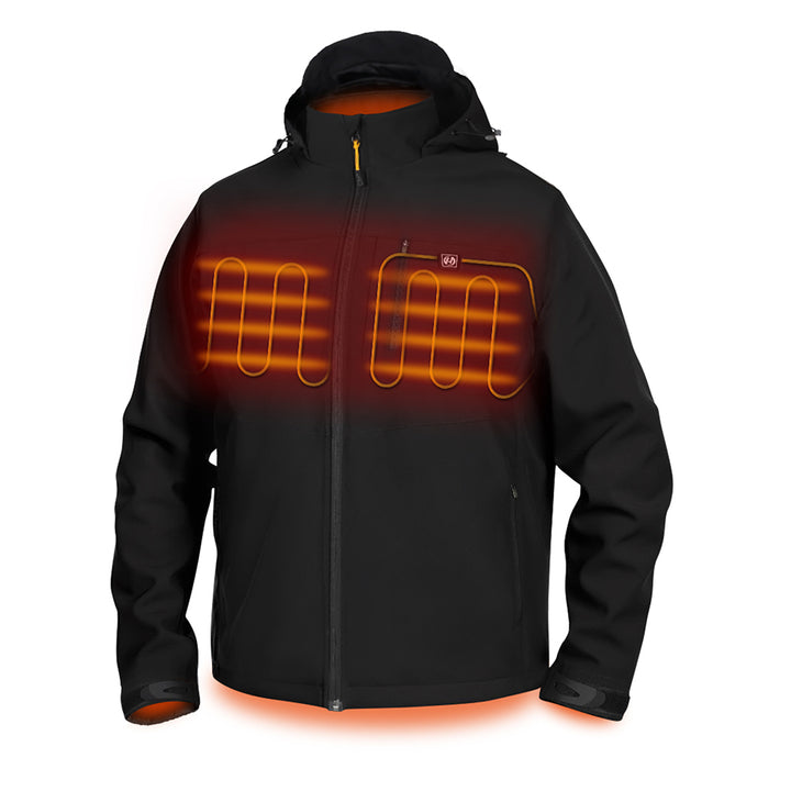 Hardland Men's Heated Jacket With Detachable Hood and Battery Pack