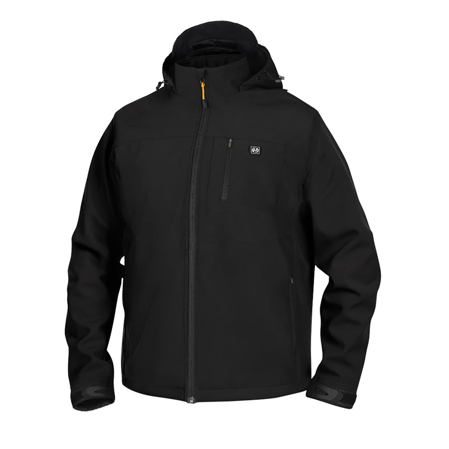 Hardland Men's Detachable Hood Heated Jacket