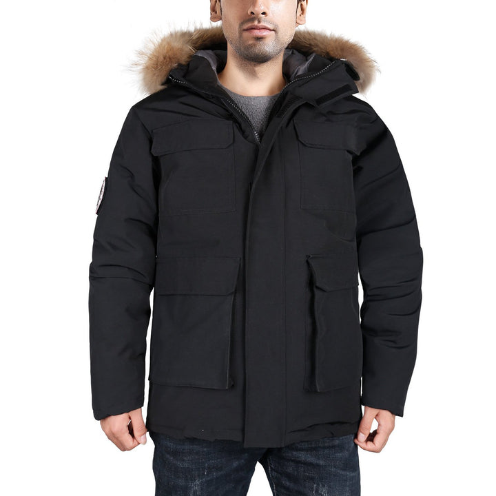 HARDLAND Men's Goose Down Jacket Parka Warm Waterproof Winter Outdoor Hooded - hardlandgear
