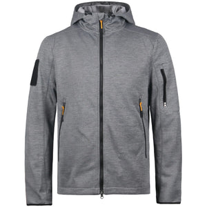 HARD LAND Men's Full Zip Up Hoodie Midweight Hooded Sweatshirt Water Resistant Tactical Fleece Work Jacket - hardlandgear