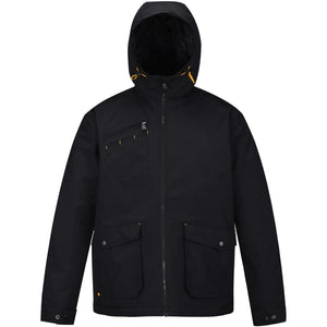 HARD LAND Men's Waterproof Winter Jacket Insulated Hooded Work Coat Outdoor Parka - hardlandgear