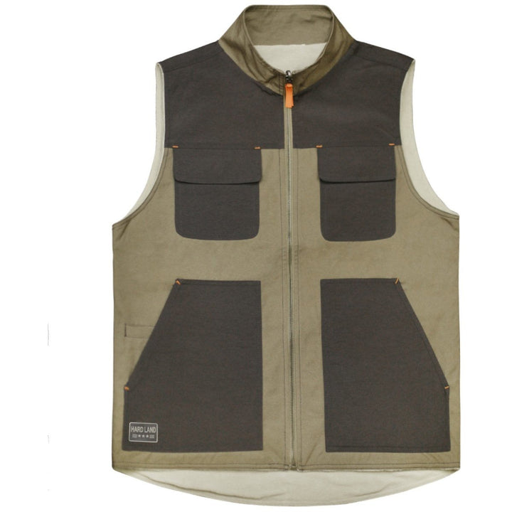 HARDLAND Men's Reversible Work Jacket Vest Polar Fleece Vest Wear-resisting - hardlandgear