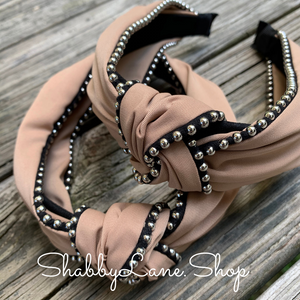 Beautiful Tan knotted headband