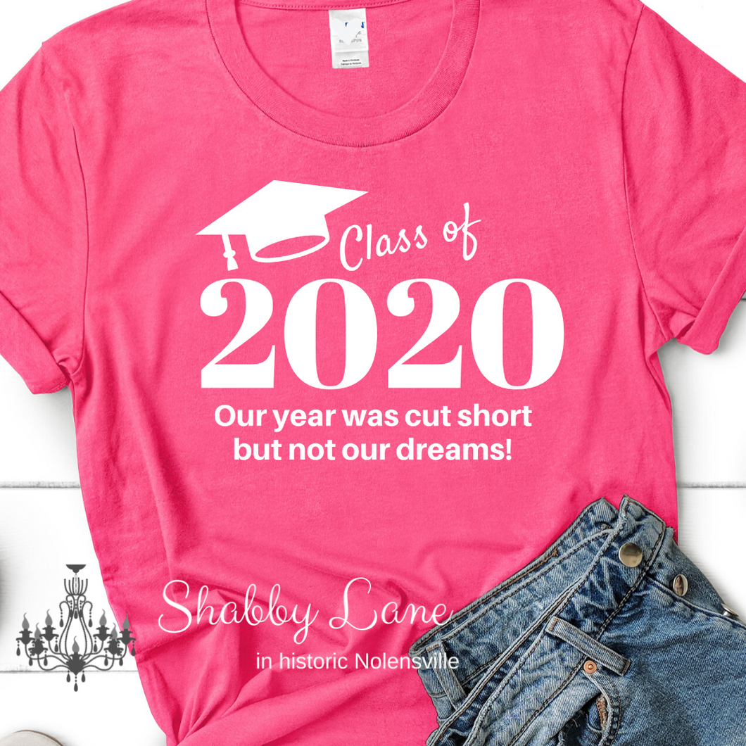 Class of 2020 tee Pink