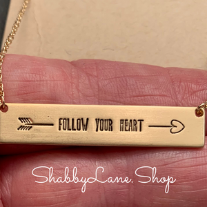 Follow your heart - gold necklace