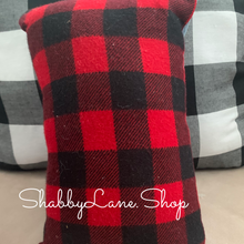 Load image into Gallery viewer, Baby it's cold outside- accent pillow red plaid