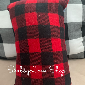Baby it's cold outside- accent pillow red plaid