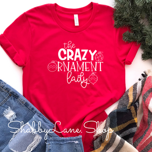 Crazy Ornament Lady - Red Short Sleeve