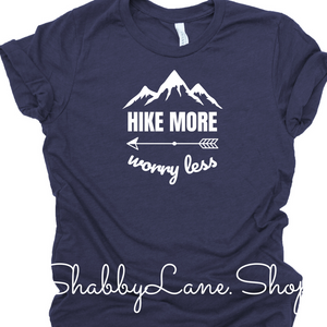Hike More Worry Less - Heather Navy
