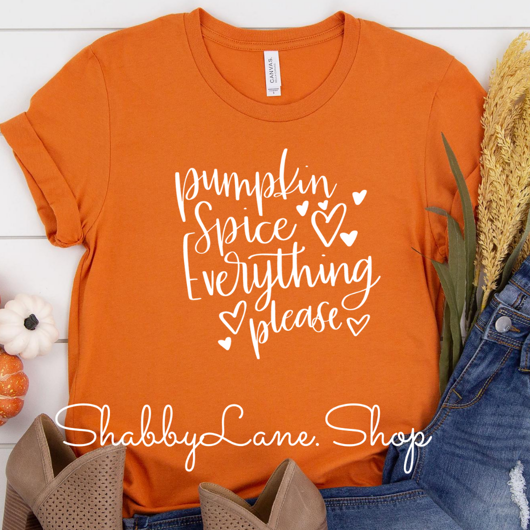 Pumpkin spice everything ! Orange
